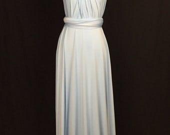 Baby blue Wrap Convertible Infinity Dress Evening Dresses  Bridesmaid Dress-B41#C41#