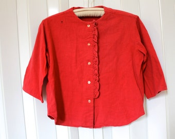 Vintage Red Button Shirt
