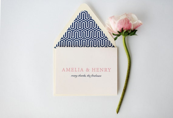 amelia personalized thank you cards +  lined envelopes (sets of 10) // lola louie paperie