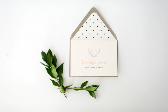nora personalized thank you cards +  lined envelopes (sets of 10) // lola louie paperie