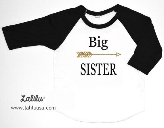 Big sister shirt baby announcement shirt sibling by for Big sister birth announcement shirts