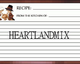 12 Recipe Cards
