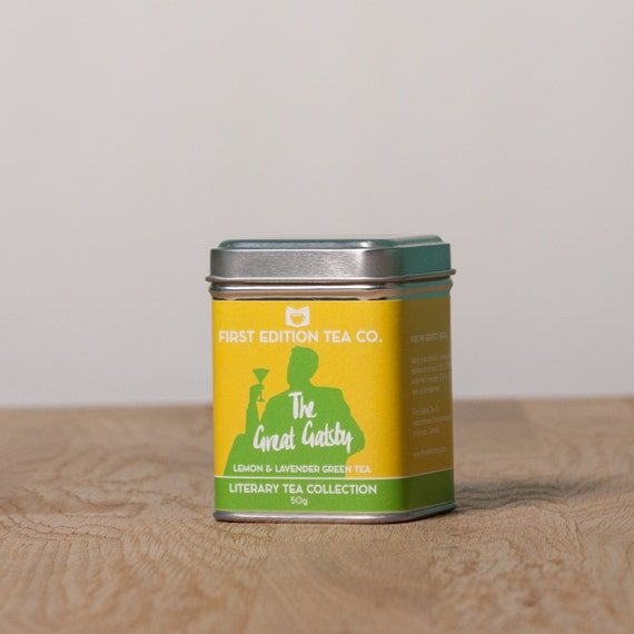 The Great Gatsby Loose Leaf Tea - Tea Cocktail Blend - Book Themed Tea - Lemon and Lavender Green Tea - 50g gift tin