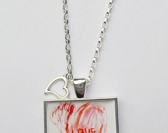 Kids Custom Artwork Necklace