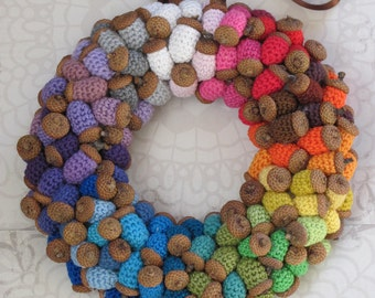 Autumnal Wreath, Acorn Wreath, Acorn Decoration,