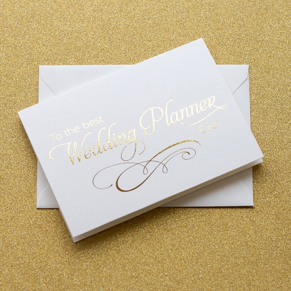 Thank You Gift To Wedding Planner : To My Wedding Planner Card, Thank You Card for Wedding Planner (WC180 ...