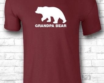 Grandpa Bear T Shirt Gift for Grandpa Shirts Tee Mens Present New Grandpa shirt father shirt gift ideas for dad 378