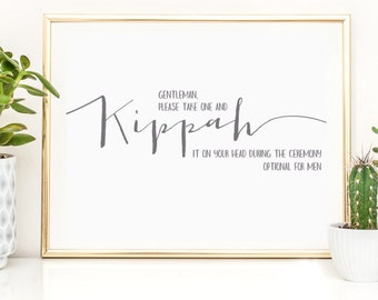 Kippah it on Your Head Sign   Yarmulke  Kippot Sign   4x6 Instant Printable  DownloadWedding kippot   Etsy. Kippahs For Wedding. Home Design Ideas