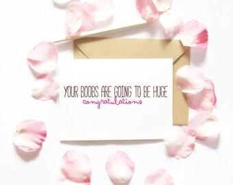 Funny Pregnancy Card/Baby Card/Blank Greeting Card/Funny card/Congratulations Card