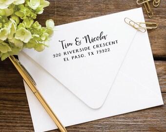 Custom Address Stamp, Self Inking Stamp, Address Stamp, Return Address Stamp, Personalized Stamp, Wedding Stamp