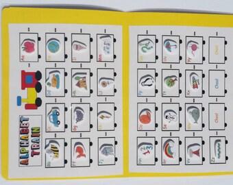 File Folder Game, Alphabet Matching Activity, Kindergarten, Preschool, Laminated with Velcro, Homeschool, Finding Opposites, Travel Activity