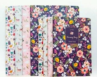 Journal Notebooks  Summer Flowers - Choice of 4 Designs