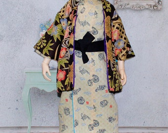 BJDs Clothing- Dragon Kimono with Coat for 1/3 doll
