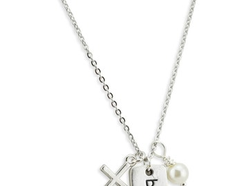 Blessed Necklace w/ Cross and Swarovski Pearl! Confirmation Gift - Cross Necklace - Religious Gift - Teen Girl Gift - Inspriational Gift
