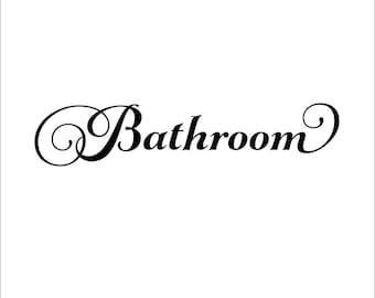 bathroom door decal bathroom vinyl decal bathroom decal bathroom wall decal bathroom vinyl lettering bathroom decor