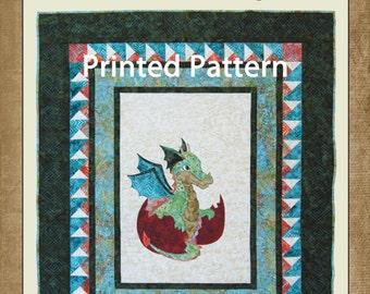 Quilt Pattern // Dragon Quilt Pattern // Printed Pattern // Boy's Quilt Pattern