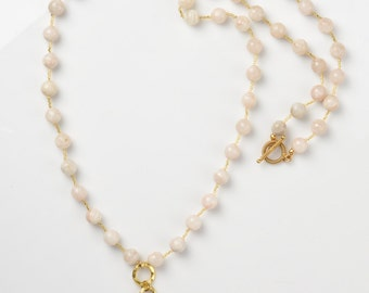 Moonstone and Gold Necklace