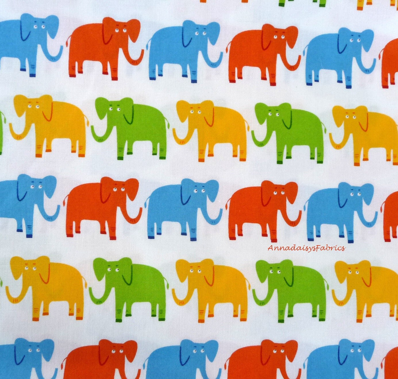 Elephant fabric jungle party 15058 robert kaufman edward for Childrens jungle fabric