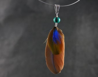 pendant natural feathers
