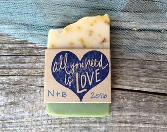 50 Olive Oil Soap Wedding Favors, Bridal Shower, Baby Shower, Thank You Gift, Soap Thank You Favor