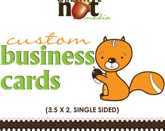 Custom Single Sided Business Cards - Calling Cards / Contact Card / Custom Business Card / 1 Sided Business Card