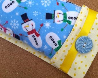 Snuggle Snowman Aromatherapy Flax Seed Eye Pillow