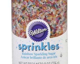 Rainbow Sparkling Sugar Sprinkles -  Wilton Edible Sprinkles - Rainbow Sugar Sprinkles - Cake, Cookie, Cupcake Sprinkles