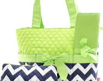 Personalized Diaper Bag Chevron