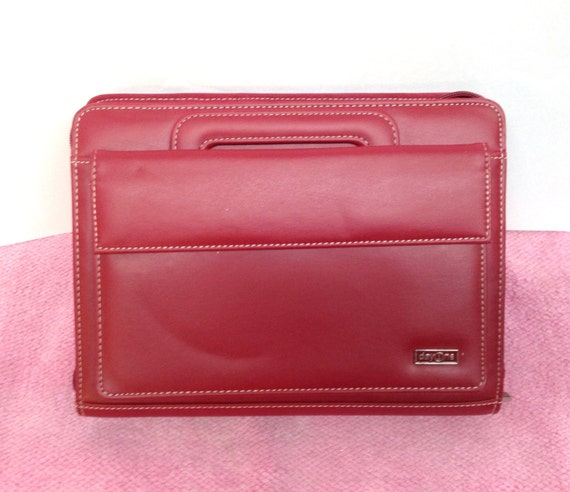 FRANKLIN COVEY CLASSIC Simulated Red Leather DayOne Zipper