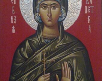 St. Paraskeva, St. Petka, Orthodox icon, hand painted, religious icon, orthodox gift, iconography, Byzantine icon, orthodox icon for sale