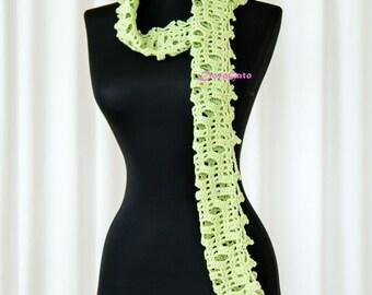 Easy Crochet Scarf PATTERN, Easy Crochet pattern, crochet shawl pattern scarflette, beginner crochet pattern, Instant Download /1003/