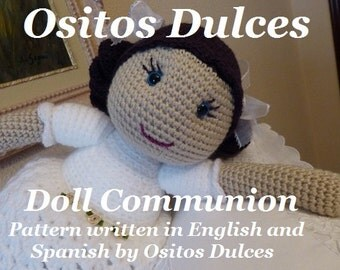 DOLL  COMMUNION PATTERN  Amigurumi pdf
