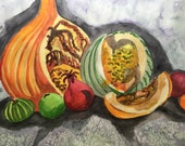 Gourds Still Life, Fall W...