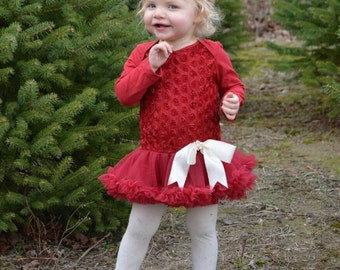 Baby girl dress. Baby girl red dress. Petti skirt. Baby ruffle dress. dress. Red baby dress.