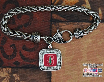 Stanford Cardinal Square Clasp Bracelet