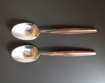 Vintage Eldan (ELD2) Brown Serving Spoons - Set of 2