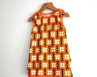 Pinafore Baby Tunic Dress, Pinafore Tunic Dress, Pinafore Baby Dress, Baby Tunic Dress, Pinafore Baby Tunic, Retro Baby Dress, Retro Tunic