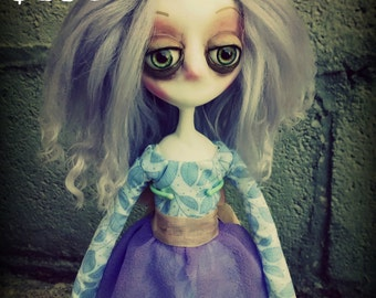 Gothic Art Doll, OOAK Handmade Dark Manor Doll: Princess Victoria