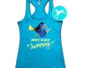 Finding Dory Shirt Workout Tank nemo Burnout Shirt Top Cross Training Tank razor back sexy funny run running exercise fitness