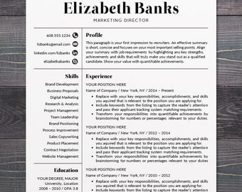 resume template cv template for word mac or pc professional resume design - Free Modern Resume Template