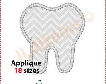Tooth Applique Design. Tooth embroidery design. Teeth applique design. Tooth fairy applique. Tooth embroidery. Machine embroidery design