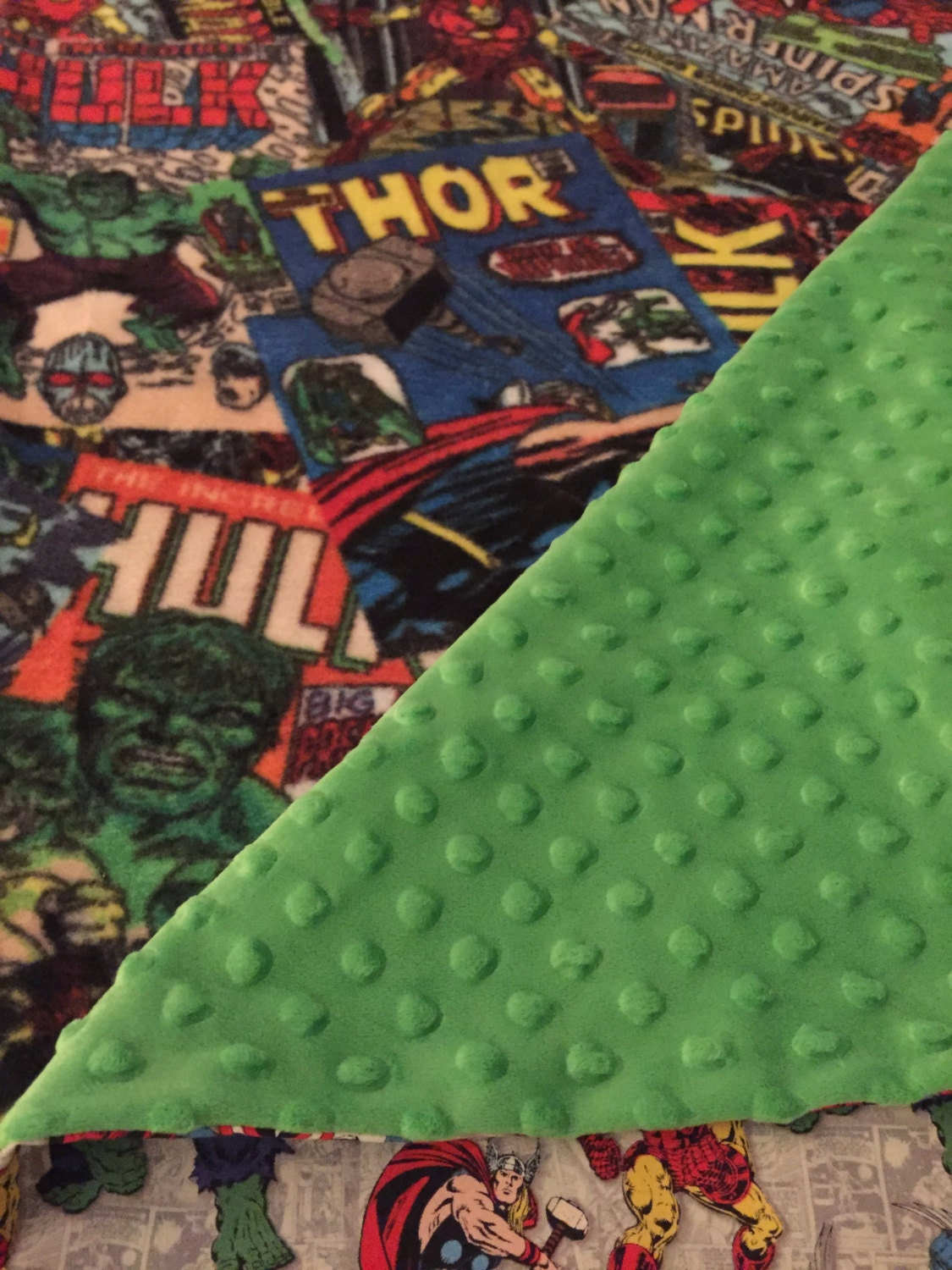 Avengers Comfy Cover With A Blanket For 1 Inch Thick Nap Mats