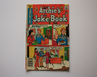 Archie Giant Series Comic Book - the World of Archie - Archie Comic no. 245 -  vintage comics Archie's Joke Book