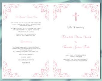 Wedding Program Booklet Template Black by WeddingPrintablesDiy