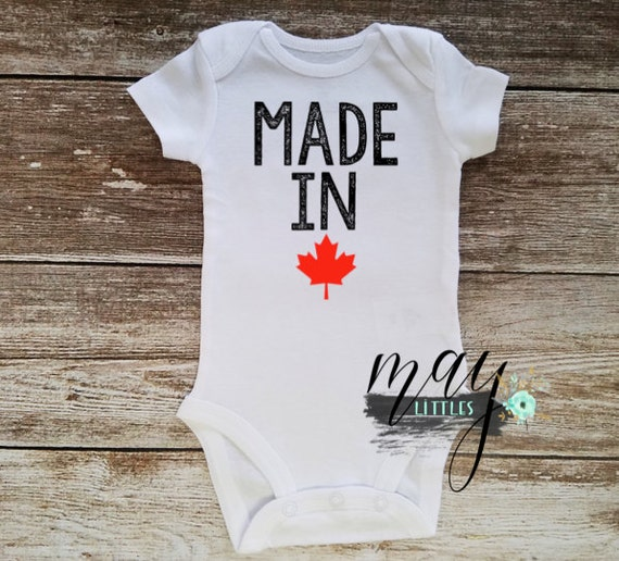 made in canada baby onesie canadian baby clothes i by