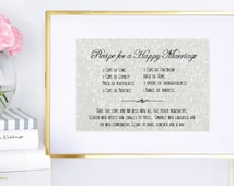 HALF PRICE Recipe for happy marriage - Digital File - Gift/Wedding Decor - Wedding - Details for the bride - Anniversary - Paper gift - DIY