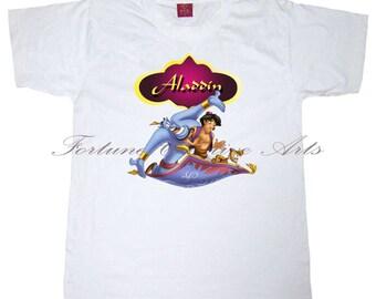 INSTANT DOWNLOAD - Iron on transfer printable Tshirt design - Pillow Design -Aladdin- M256