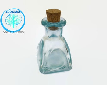 60ml Eco-Glass Bottle With Cork, Arch Decorative Glass Vial, Small Bottle perfect for 1000's of uses!