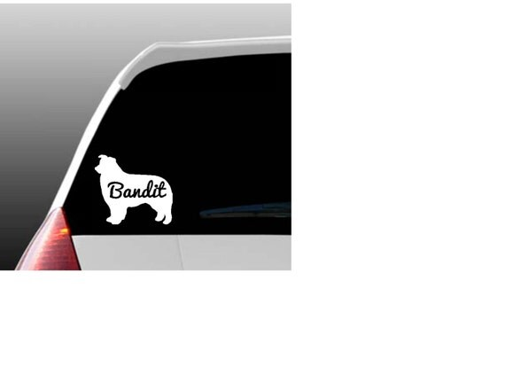 Autocollant de fen tre voiture personnalis e border collie for Fenetre voiture
