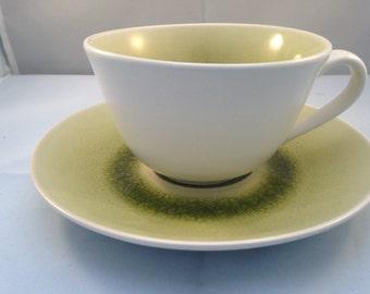 Scandanavian Design Broste Copenhagen Green Cup & Saucer